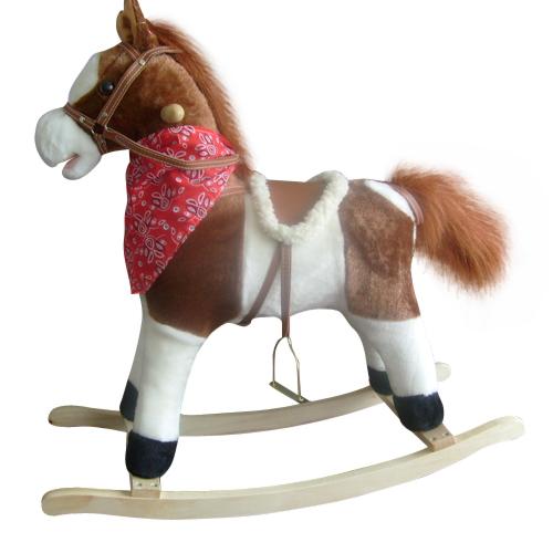 hot selling Toy rocking horse trojan denim 32 harmony music flash 70cm(China (Mainland))