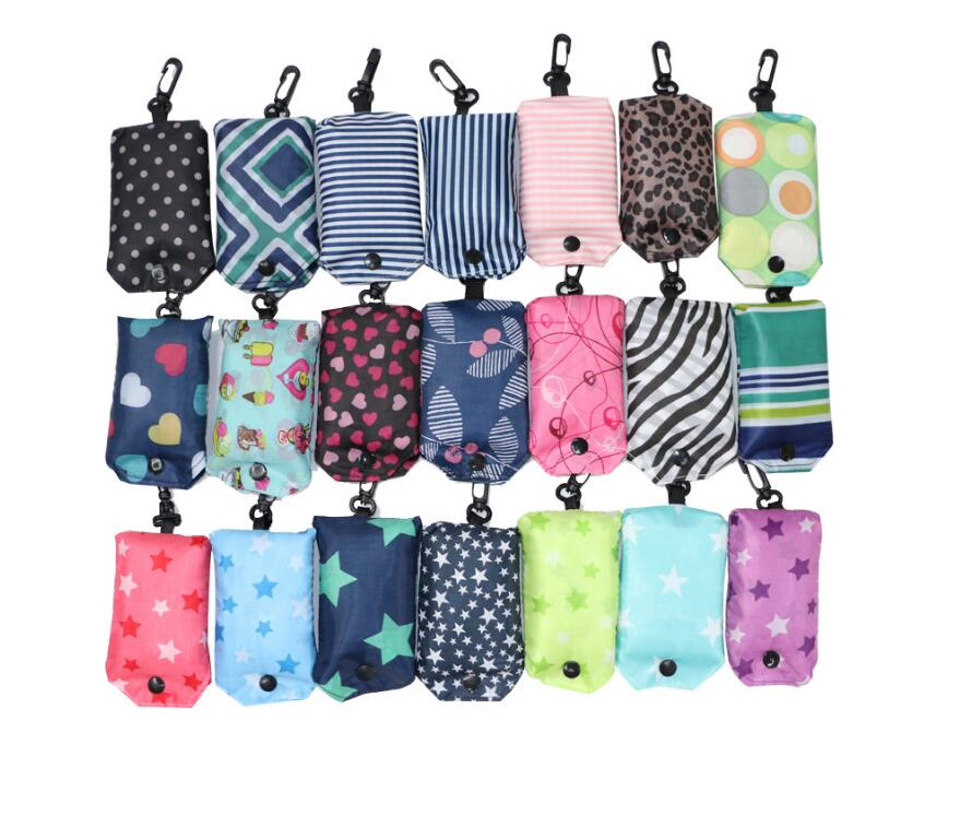 10pcs lot polyester foldable grocery bag solid color reusable bags