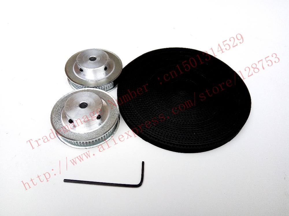 2pcs 60 teeth GT2 Timing Pulley Bore 6.35mm + 5 Meters GT2 timing Belt Width 6mm 2GT timing belt pulley for 3D free shipping(China (Mainland))