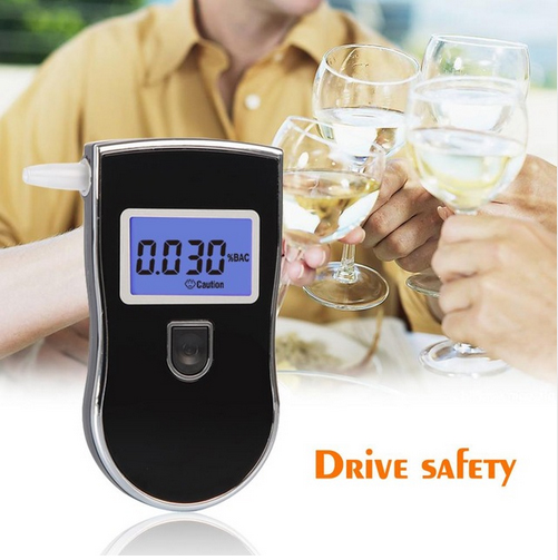 Patent Black Digital Alcotest Alcohol Breath Analyzer Detector Breathalyzer Tester Test Wholesale(China (Mainland))