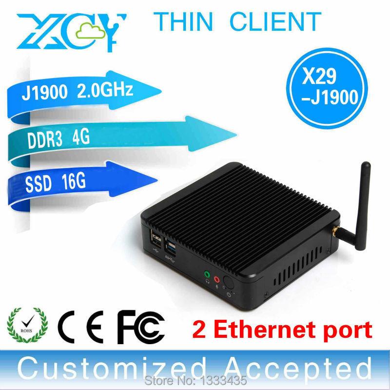 Hot sale!!!embedded mini computer fanless pc mini computer X-29 j1900 dual lan 4GB RAM 16GB SSD support Windows 98,Windows 2000(China (Mainland))