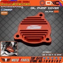 Billet Oil Pump Cover SXS07450265 For KTM 250 350 450 400 500 530 SXF XCF XCFW XCW EXCF SMR FREERIDE  Free Shipping(China (Mainland))