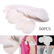 2016 New 50pcs Disposable Underarm Sweat Pad Guard Pads Armpit Sheet Dress Shield Flesh(China (Mainland))