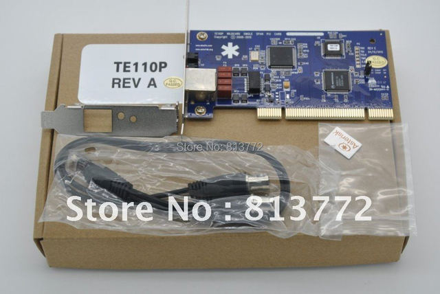 1 port T1/E1 card,ISDN PRI PCI card TE110P with free shipping TE110P ISDN PRI card, supports Asterisk digium