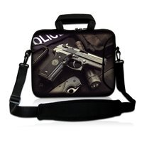 """Buy 17"""" Police Gun Soft Neoprene Laptop Shoulder Bag Sleeve Case Pouch+Handle,Pocket 17"""" 17.3"""" 17.4"""" HP DELL ACER ASUS Laptop for $20.29 in AliExpress store"""