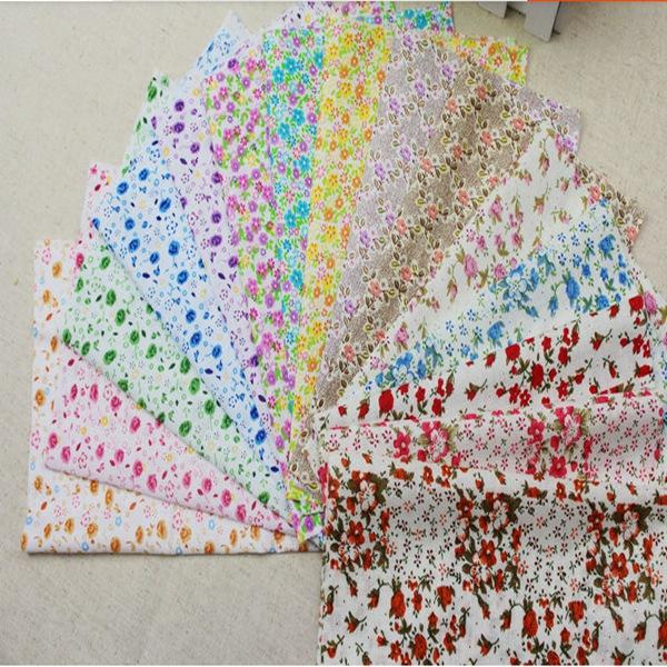 2015 New 10x10cm Mini Square Shape Cotton Patchwork Floral Polycotton Quilting DIY Fabric(China (Mainland))