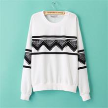 2015 New Autumn European Casual Print Soft Sweatshirt Women Sweatshirts Ethnic Pullover Tops Blouse Hoodie Sweatshirt Outerwear