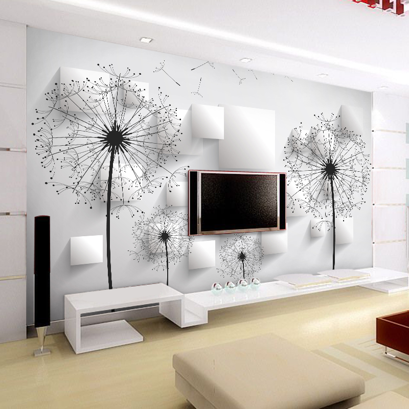 Tv Backdrop Wallpaper Bedroom Living Room European Style
