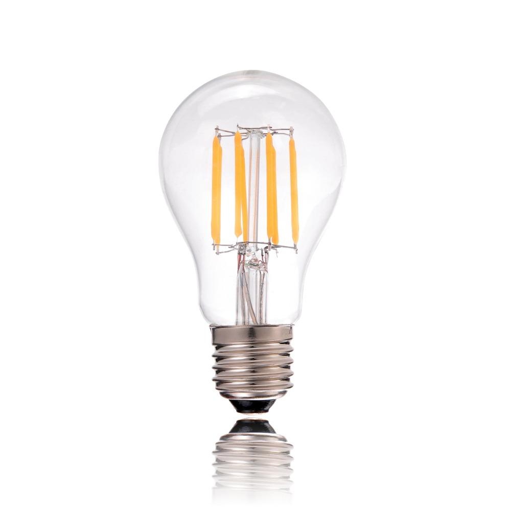 A19 Led Filament Bulb Nostalgic Edison Style 4w To Replace: LED Decorative Filament Bulb 4W 6W 8W Cold Warm White A19