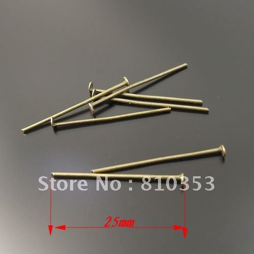 Vintage Style Antiqued Bronze Tone Iron Nail Jewellery Findings 25*1*1mm 400pcs-33433(China (Mainland))