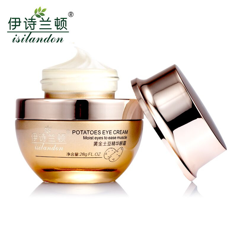 ISILANDON Gold Potato Essence Ageless Eye Cream Eye Care Skin Care Whitening Dark Circle Anti Puffiness Anti Wrinkle Aging(China (Mainland))