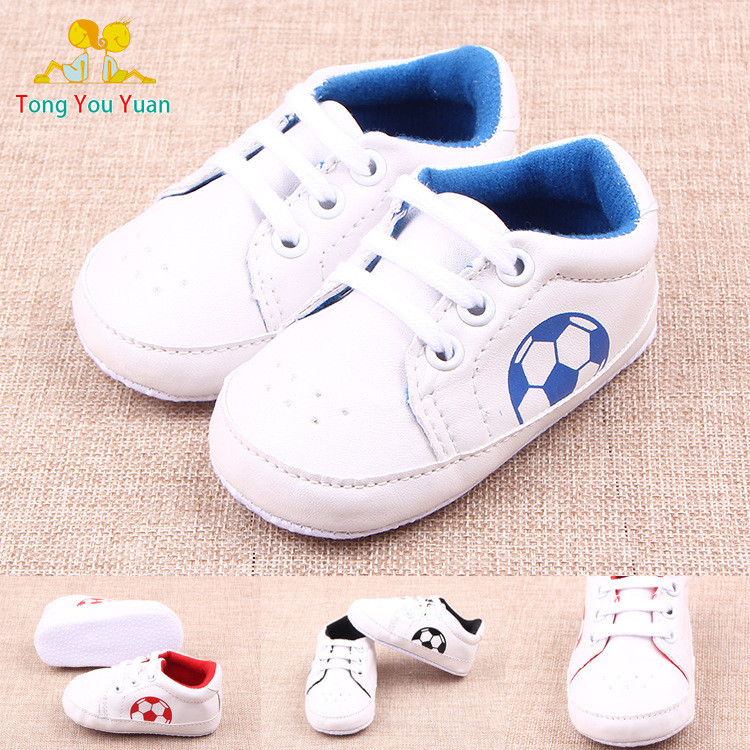 New Arrival 2016 Fashion White Soccer Baby Sneakers Shoes