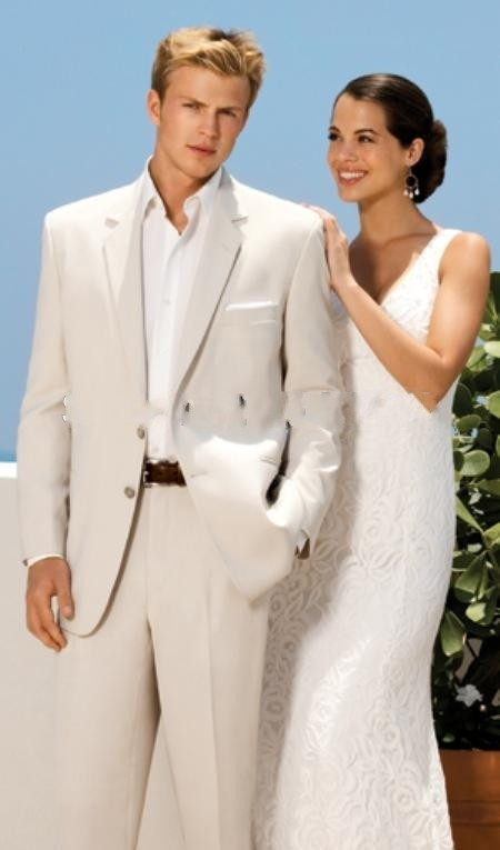 2016 New Custom Made Fashion Beige Mens Tuxedo Slim Fit Bridegroom Wedding Suits Formal Party Suits