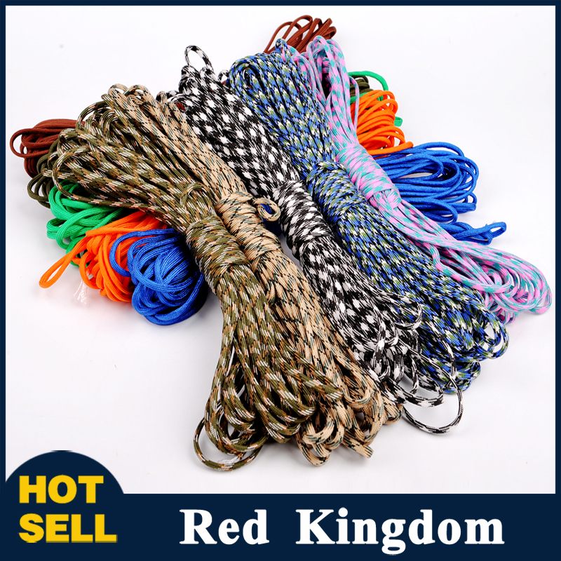 Sale 25FT(8m) 550 Paracord Parachute Cord Lanyard Mil Spec Type III 7 Strand Core  Mil Spec  Climbing Camping Survival Equipment<br><br>Aliexpress
