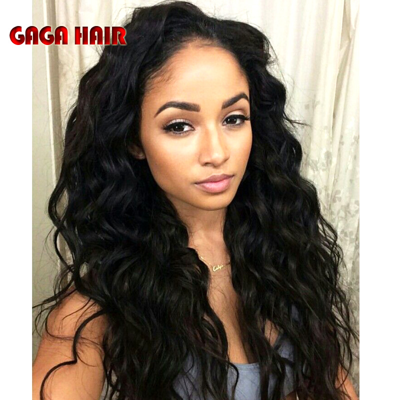 6A Grade Lace Front Human Hair Wigs Brazilian Virgin Hair Glueless Full Lace Human Hair Wigs With Baby Hair For Black Women