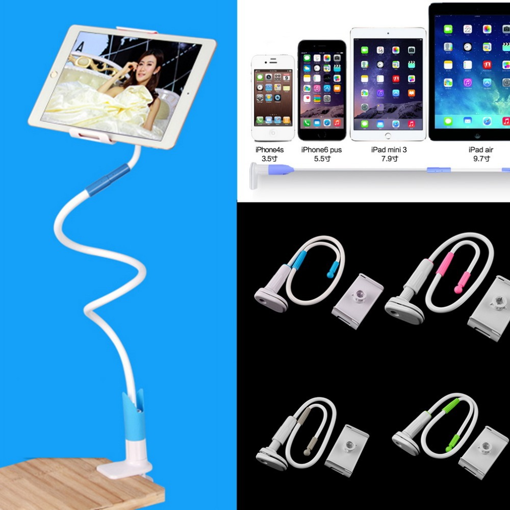 New 360 Rotating Flexible Long Arm cell phone holder stand lazy bed desktop tablet car selfie mount bracket for cell phone Pad(China (Mainland))