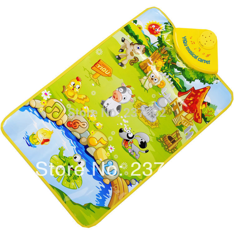 New learn&education Music Sound Farm Animal Touch baby Play Singing mat the baby gym carpet for children toy Free Shipping(China (Mainland))