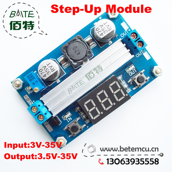 DC DC-DC 3~35V to 3.5~35V LTC1871 Booster step up Step-up module Converter Regulated Power Supply+VoltMeter(China (Mainland))