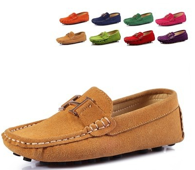 new 2014 Hot sale  eight colors Girls genuine leather princess shoes  kids single shoes child gommini loafers boat shoes<br><br>Aliexpress