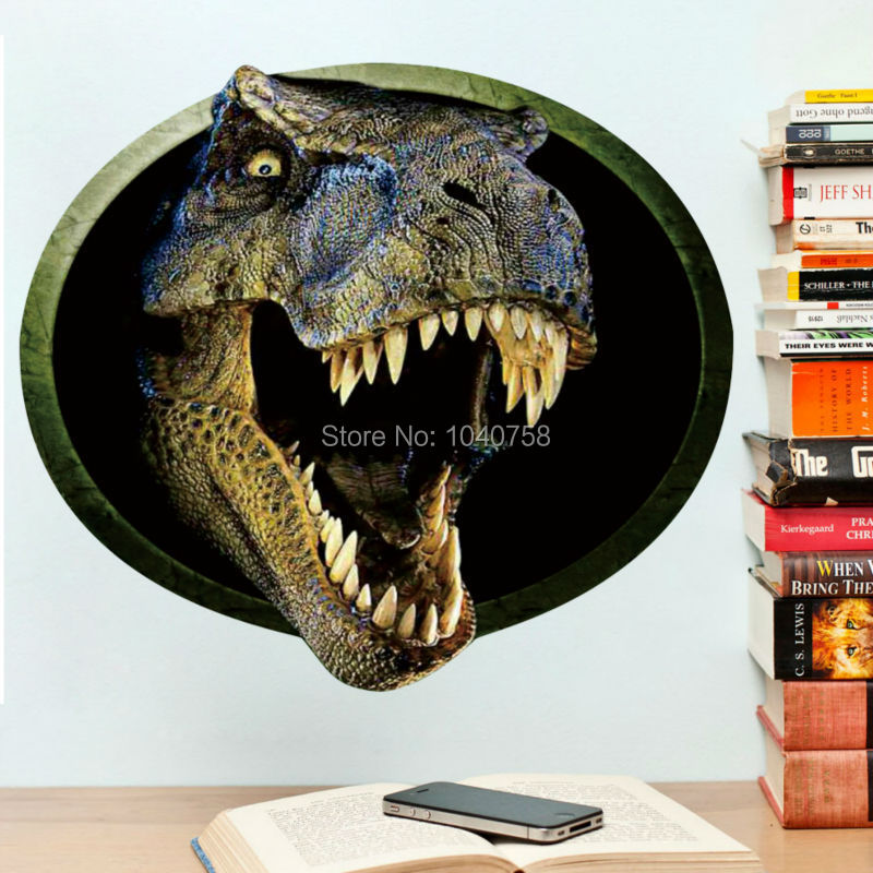Wall Stickers Buy Discount Français Free Shipping - 3d dinosaur wall decalsd dinosaur wall stickers for kids bedrooms jurassic world wall