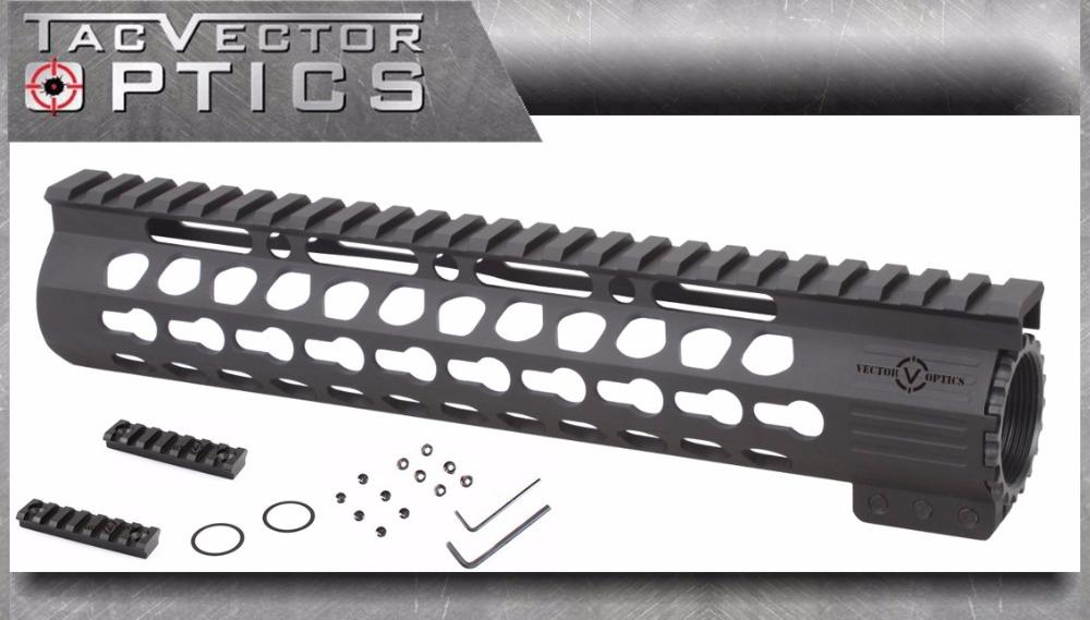 Vector Optics Slim KeyMod 10 Inch Free Float Handguard Mount Steel Barrel Nut Shim fit Real Ruger DPMS Bushmaster AR15 M4 - store