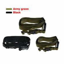 Black Army Green 3 Point Airsoft Tactical Military Guns Rifle Sling Gun Sling Strap Outdoor Camping Survival Sling Hunting Belt