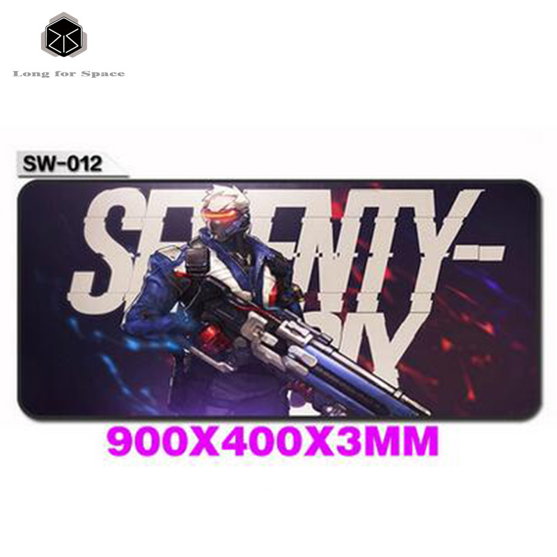 Super Large Gaming Overwatch Mouse Pad Razer 900*400 With Locking Edge For Desktop And Laptop Computer(China (Mainland))