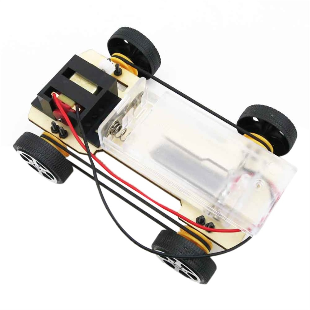 New arrival Self assembly DIY Mini Battery Powered Wooden Car Model Children Educational Toy Boy Gift Game Funny Worldwide sale(China (Mainland))