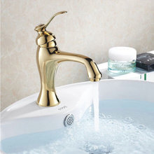 Buy Free Golden luxurious Bathroom Basin Faucet Hot&Cold Mixer Tap Brass Material European Style Crane HJ-2262 for $45.60 in AliExpress store