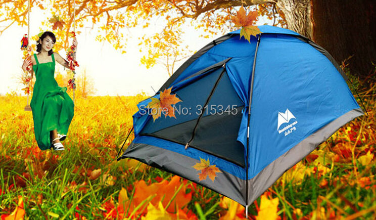 New Single Layer Pop up camping tent 1 Person Hiking Fishing Outdoors Beach Tent Fishing Tent Easy Assemble(China (Mainland))