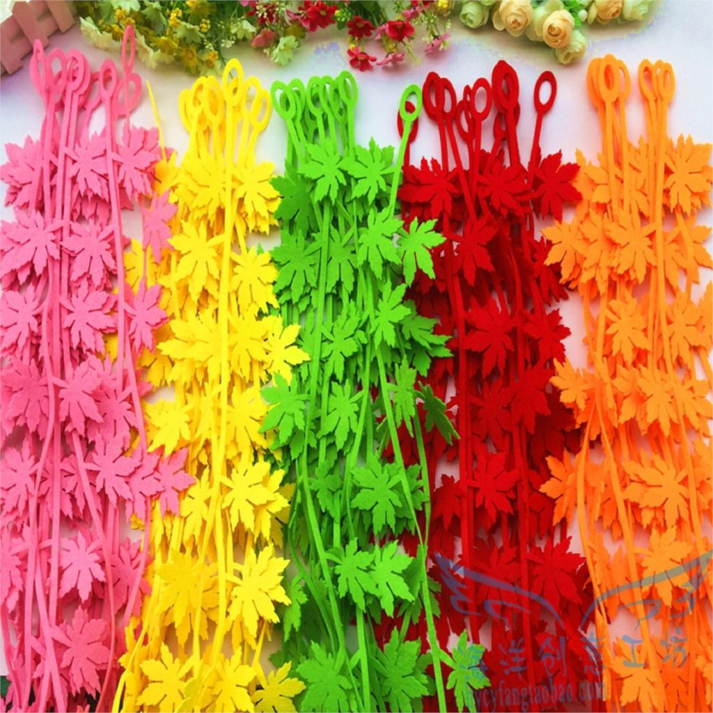 Primary school The Kindergarten classroom corridor wall decoration decoration ornaments can remove stickers Maple strips(China (Mainland))
