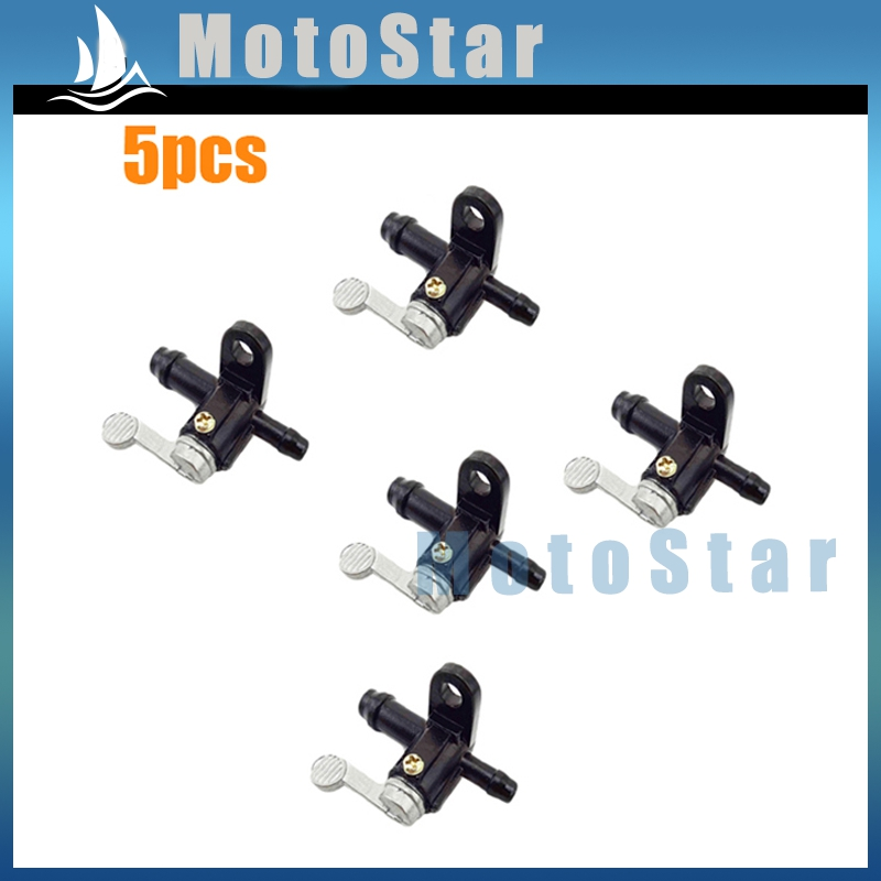 5x ATV Gas Petrol Fuel Tap Tank Petcock Switch For 50 70 90 110 125 140 150 200 250 cc PW50 Y-ZINGER PY50 Quad 4 Wheeler(China (Mainland))