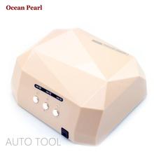 1106-AUTO Sensor LED Nail Lamp for Nail Dryer Diamond Shaped 36W Long LIife LED CCFL Curing Nail Tools UV Nail Lamp(China (Mainland))