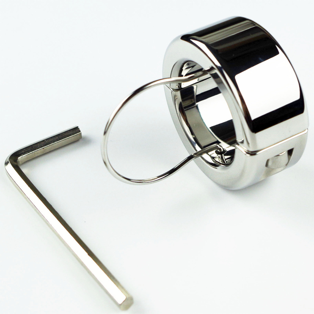 300g(10.6oz) Weights Testicle Balls Scrotum Pendant Stainless Steel Ball Stretchers Cock Ring Locking Real Men CBT Sex Product(China (Mainland))