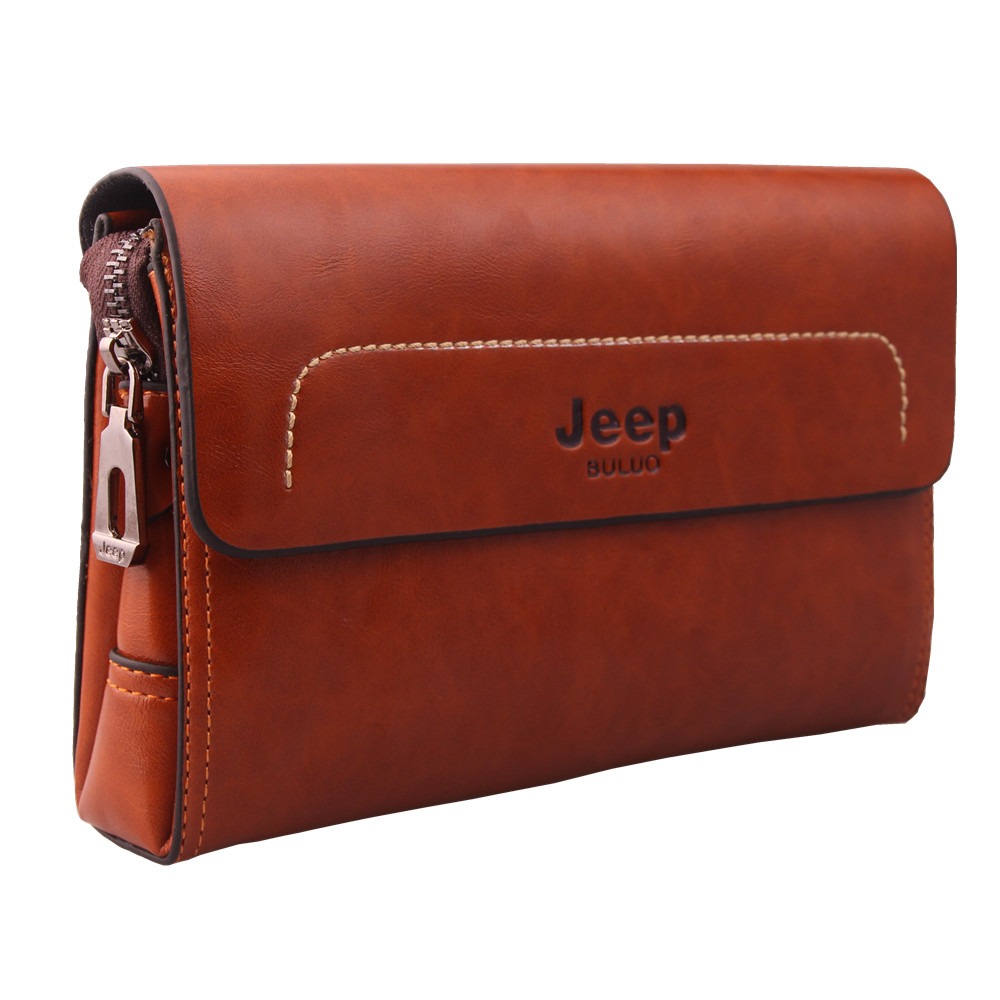 New 2015 Fashion Brand Men's Wallet Genuine Leather High Quality Zipper Business Purses Card Holder Male Clutch Bags