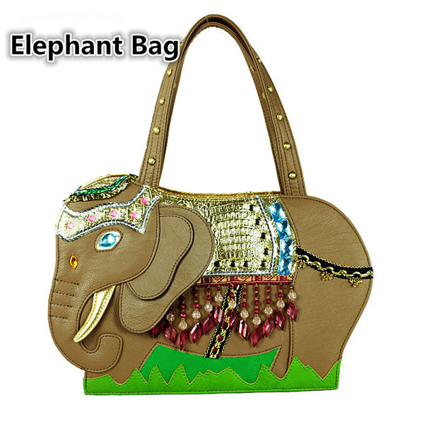 Summer And Spring Women's Fashion Handbag/ Retro And National Elephant Shoulder Bag/Messenger Tote/Animal Shape Party Bag(China (Mainland))