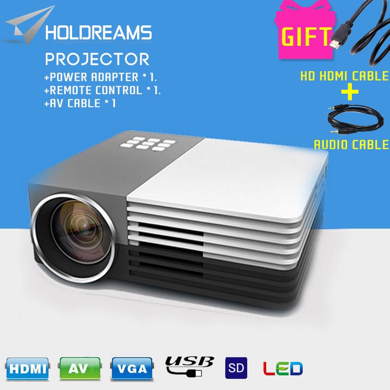 GM50 Mini Portable LED Projector Video Theater Home Projector SD/HDMI/VGA/AV/USB + HDMI Cable + Audio Cable<br><br>Aliexpress