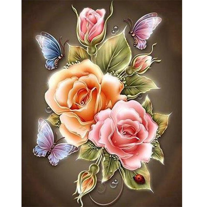 Needlework diy diamond painting counted cross stitch diamond embroidery flowers square drill full embroidery hobbies and crafts(China (Mainland))