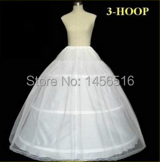 In Stock 2014 Hot Sale 3 Hoop Ball Gown Bone Full Crinoline Petticoats For Wedding Dress Wedding Skirt Accessories Slip(China (Mainland))