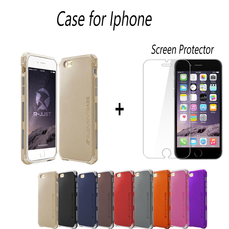 New Element Aluminum Metal Frame Back Cover For iPhone6 6s Matte Frosted Protector Case For Iphone 6plus 5.5 inch Free Shipping(China (Mainland))
