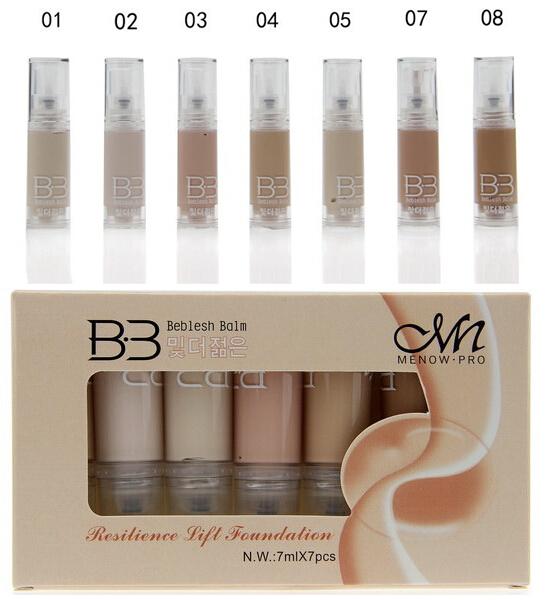7pcs/ box Professional Brand Makeup Studio Face Foundation Liquid Maquiagem Maquillaje Concealer Cream Waterproof Base Cosmatics(China (Mainland))