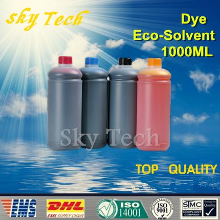 1000ML*4pcs  Eco Solvent Ink  suit for Epson Flatbed Ink Jet Printer , K C M Y  , 4 color ,for wood ,metal ,PVC ceramic etc<br><br>Aliexpress