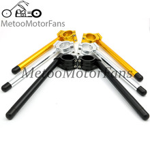 Motorcycle Universal Racing CNC 31MM 33MM 35MM 36MM 39MM 40MM 41MM 45MM 46MM 48MM 50MM 51MM Clip on Ons clipon Fork handlebars(China (Mainland))