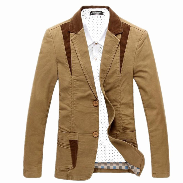 New spring and autumn men's suit jacket men blazer cultivating cotton men's leisure causal blazer suits tide blazer big size(China (Mainland))