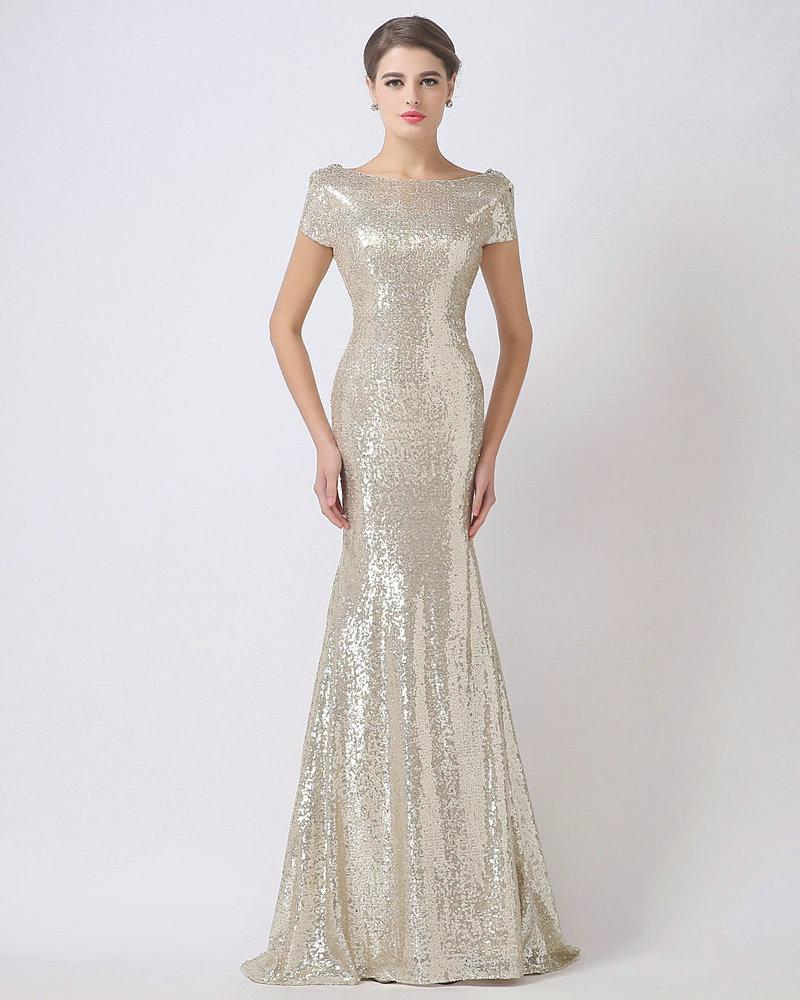 Demoiselle d 39 honneur argent robes promotion achetez des for Robes de demoiselle d honneur mariage marine