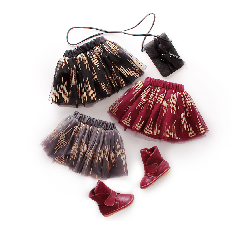 2016 Summer Style New Korean Children's Clothing Baby Girl Skirts Sequins Cute Fashion Elegant Tutu Skirts Girls Kids Clothes(China (Mainland))