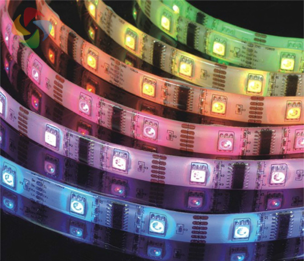 LED flexible strip cheap price 5050 LED 60 pcs/Meter input 12V safe tape/ GOOD QUALITY!! 5050 string lighting high brightness!(China (Mainland))