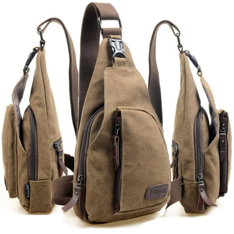 Fashion Men Messenger Bags Casual Outdoor Travel Hiking Sport Casual Chest Canvas Male Small Retro Military Shoulder Bag 60B9076(China (Mainland))
