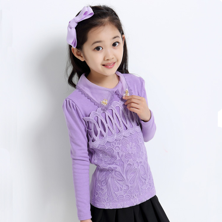 2015 autumn white full clothing children mini on t shirts for Girls shirts size 8