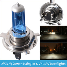 Brand New High Quality 2x H4XENON HALOGEN BULB H4 6000K Xenon Car HeadLight Bulb Halogen light 12V 100W Headlights Super White